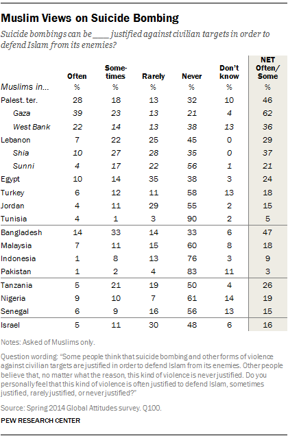 Muslim Views on Suicide Bombing
